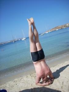 Steve headstand