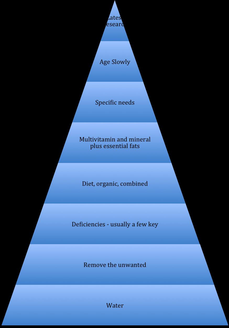 pyramid nutrition concept